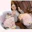 ช่อกุหลาบสีขาวอมชมพู พร้อมหมีคู่รัก thumbnail 6