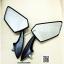 กระจก มองหลัง แต่ง กระจกติดหน้ากาก น๊อต 8 mm พลาสติก สีดำ N0.100006 thumbnail 2