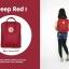 กระเป๋าเป้ Fjallraven Kanken Classic สี แดง Deep Red พร้อมส่ง thumbnail 5