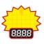 0608 L ป้ายระเบิด ราคา Size L (บรรจุ 10 แผ่น ต่อ 1 ห่อ) thumbnail 1