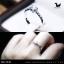 แหวนคู่รักเงินแท้ เพชรสังเคราะห์ ชุบทองคำขาว รุ่น LV14781530 Dot Moon B & I Do thumbnail 6