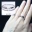 แหวนคู่รักเงินแท้ เพชรสังเคราะห์ ชุบทองคำขาว รุ่น LV14781423 Dot Moon B&G thumbnail 5