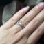 แหวนเงินแท้ เพชรสังเคราะห์ ชุบทองคำขาว รุ่น RG1466 Love thumbnail 2