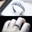 แหวนเงินแท้ เพชรสังเคราะห์ ชุบทองคำขาว รุ่น RG1446 HS mini thumbnail 3