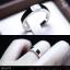 แหวนคู่รักเงินแท้ เพชรสังเคราะห์ ชุบทองคำขาว รุ่น LV1475 Dot Moon Square thumbnail 6