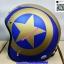 หมวกCLASSIC หมวกกันน็อค SPEED STAR ลาย ดาว กระดุม 5 เม็ด มีแก๊ป บังแดด หมวกนิรภัย เต็มใบ แนว CAFE RETRO STREET OLD SCHOOL thumbnail 4