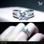 แหวนเงินแท้ เพชรสังเคราะห์ ชุบทองคำขาว รุ่น RG1309 HS thumbnail 4