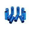 ปลายปลอกสายเกียร์ อลูมิเนียมสีฟ้า (1 ชุดมี 10 ตัว)
