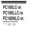 หนังสือ พาสนัมเบอร์อะไหล่ ( Parts Book ) จักรกลหนัก Komatsu HYDRAULIC EXCAVATOR PC180LC-3K K10001 , PC180LLC-3K K10001 , PC180NLC-3K K10001 (ทั้งคัน) EN