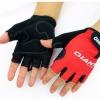ถุงมือจักรยาน Jiant ครึ่งนิ้ว แดง/ดำ/น้ำเงิน