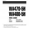 หนังสือ คู่มือซ่อม วงจรไฟฟ้า วงจรไฮดรอลิก จักรกลหนัก WA470-5H WA470H50051 , WA480-5H WA480H50051 (ทั้งคัน) EN