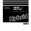 หนังสือ คู่มือซ่อม วงจรไฟฟ้า วงจรไฮดรอลิก จักรกลหนัก HYDRAULIC EXCAVATOR Hybrid HB205-1 1001 , HB215LC-1 1001