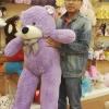 ตุ๊กตาหมีสีม่วง 1.4 เมตร