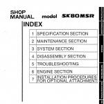 หนังสือ คู่มือซ่อม Kobelco Hydraulic Excavator SK80SR (ข้อมูลทั่วไป ค่าสเปคต่างๆ วงจรไฟฟ้า วงจรไฮดรอลิกส์)