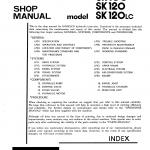 หนังสือ คู่มือซ่อม Kobelco Hydraulic Excavator SK100 , SK120 , SK120(LC) (ข้อมูลทั่วไป ค่าสเปคต่างๆ วงจรไฟฟ้า วงจรไฮดรอลิกส์)
