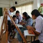 สอนวาดภาพ (ครูภูมิปัญญญา) โรงเรียนวัดกิ่งแก้ว