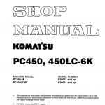 หนังสือ คู่มือซ่อม วงจรไฟฟ้า วงจรไฮดรอลิก จักรกลหนัก PC450-6K, PC450LC-6K K30001 (ทั้งคัน) EN