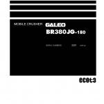 หนังสือ คู่มือซ่อม วงจรไฟฟ้า วงจรไฮดรอลิก จักรกลหนัก BR380JG-1E0 2001 (ทั้งคัน) EN