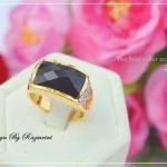 แหวนนิลหุ้มทองคำแท้