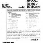 หนังสือ คู่มือซ่อม Kobelco Hydraulic Excavator SK100(L) , SK120V , SK120(LC)V (ข้อมูลทั่วไป ค่าสเปคต่างๆ วงจรไฟฟ้า วงจรไฮดรอลิกส์)