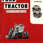 CD คู่มือซ่อม การถอดประกอบ Ford Tracter Series 600 และ Series 800 ปี 1954 4 ภาษา อังกฤษ (EN) ทั้งคัน