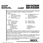หนังสือ คู่มือซ่อม Kobelco Hydraulic Excavator SK40SR , SK45SR