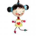 ตุ๊กตาห้อย(เซรามิก) หัวโต(ผมจุก)(คละสี)