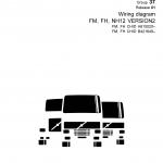 หนังสือ คู่มือซ่อม วงจรไฟฟ้า Wiring diagram Trucks FM, FH, NH12 VERSION2 FM, FH CHID A615020–, FM, FH CHID B421649– (ข้อมูลทั่วไป ค่าสเปคต่างๆ วงจรไฟฟ้า วงจรไฮดรอลิกส์)