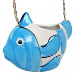 กระถางแขวน(เซรามิก) ปลานีโม่(คละสี)