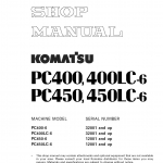 หนังสือ คู่มือซ่อม วงจรไฟฟ้า วงจรไฮดรอลิก จักรกลหนัก PC400-6, PC400LC-6 32001 , PC450-6, PC450LC-6 12001 (ทั้งคัน) EN