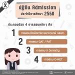 ปฏิทินการสอบเข้ามหาวิยาลัย ปีการศึกษา 2560