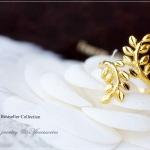 แหวนใบมะกอกหุ้มทองคำแท้