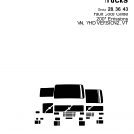 หนังสือ คู่มือรวมรหรัสปัญหา Fault Code Guide 2007 Emissions VN, VHD VERSION2, VT Group 28, 36, 43