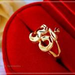 แหวน ॐ โอม ॐ หุ้มทองคำแท้