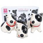 ออมสิน(เซรามิก) หมา3ตัว Little Dog(พร้อมกล่อง)