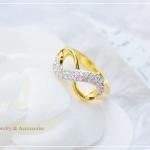 แหวนอินฟินิตี้ประดับเพชรCZ