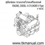 หนังสือ คู่มือซ่อม ระบบกลไกลเครื่องยนต์ จักรกลหนัก Cummins ENGINE DIESEL 8 สูบ V-Type (1991-4)
