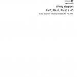 หนังสือ วงจรไฟฟ้า Wiring diagram Trucks Group 37 Version 02 FM7, FM10, FM12 LHD (วงจรไฟฟ้า วงจรไฮดรอลิกส์)