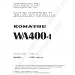 หนังสือ คู่มือซ่อม วงจรไฟฟ้า วงจรไฮดรอลิก จักรกลหนัก WA400-1 10001 (ทั้งคัน) EN