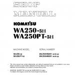 หนังสือ คู่มือซ่อม วงจรไฟฟ้า วงจรไฮดรอลิก จักรกลหนัก WA250-5H WA250H50051 , WA250PT-5H WA250H60051 (ทั้งคัน) EN