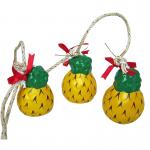 โมบายเส้น(เซรามิก) สับปะรด(3ลูก)