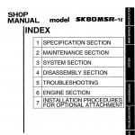 หนังสือ คู่มือซ่อม Kobelco Hydraulic Excavator SK80SR-1E (ข้อมูลทั่วไป ค่าสเปคต่างๆ วงจรไฟฟ้า วงจรไฮดรอลิกส์)