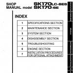 หนังสือ คู่มือซ่อม Kobelco Hydraulic Excavator SK170(LC)-6ES , SK170-6E (ข้อมูลทั่วไป ค่าสเปคต่างๆ วงจรไฟฟ้า วงจรไฮดรอลิกส์)
