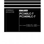 หนังสือ คู่มือซ่อม วงจรไฟฟ้า วงจรไฮดรอลิก จักรกลหนัก PC340LC-7E0 K45001 , PC340NLC-7E0 K45001 (ทั้งคัน) EN