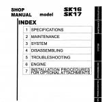 หนังสือ คู่มือซ่อม Kobelco Hydraulic Excavator SK16 , SK17