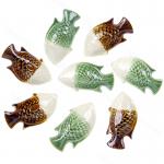 ชุดถ้วยน้ำจิ้มน้ำพริก(เซรามิค) รูปทรงปลา สีขาว-เขียว ขาว-น้ำตาล(8ชิ้น)
