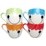 ชุดแก้วกาแฟ(เซรามิค) ลายหน้ายิ้ม(4ใบ)