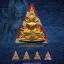 พระพุทธชินราช เนื้อผงพุทธคุณปิดทอง (ระบุสี) หลวงปู่เณรแก้ว คัมภีโร thumbnail 3