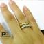 แหวนพูนทรัพย์พลอยนพเก้า หุ้มทองคำแท้ thumbnail 2