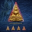 พระพุทธชินราช เนื้อผงพุทธคุณปิดทอง (ระบุสี) หลวงปู่เณรแก้ว คัมภีโร thumbnail 2
